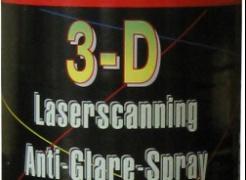 3D Laserscanning tükröződésmentes spray & tisztító